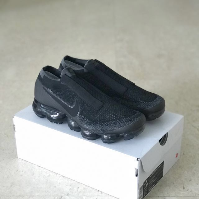 02daa006e62eb US9 Nike Air Vapormax Flyknit SE Laceless Triple Black