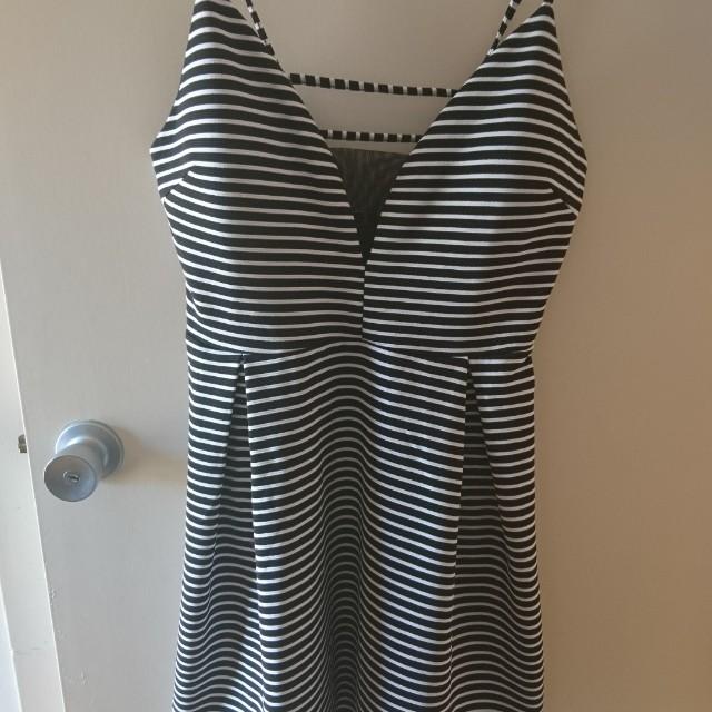 Valley Girl, stripey dress