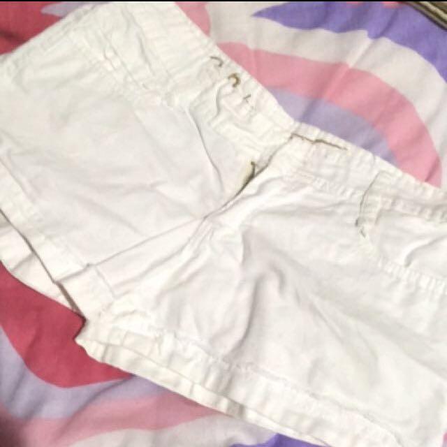 White Denim Shorts || size XL