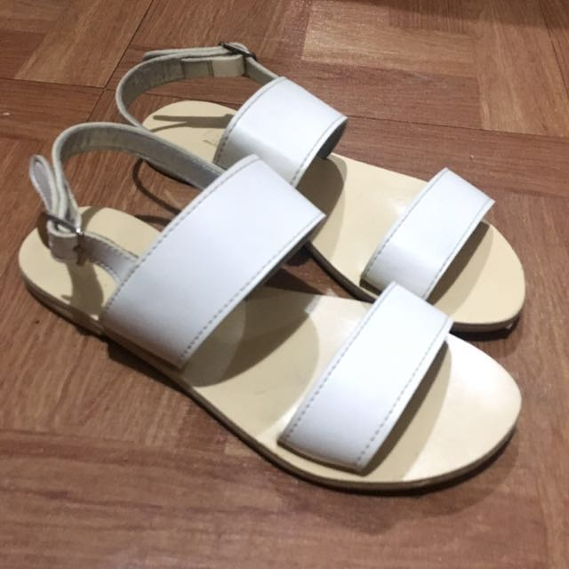 White Sandals Size 5