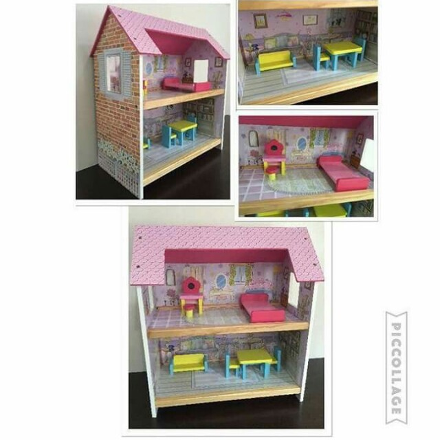 Wooden Assembly dollhouse