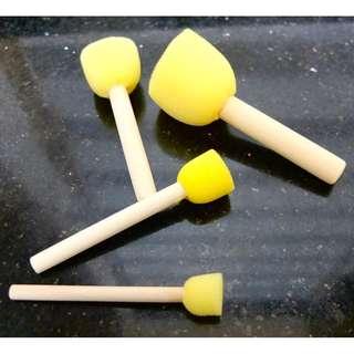 Round Tip Foam Brush Set