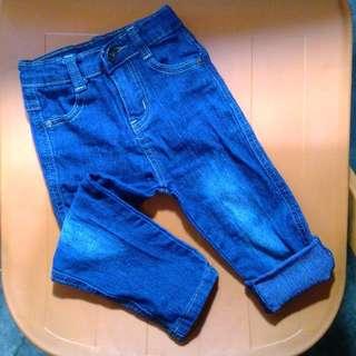 FINAL PRICE Stylish Adjustable Denim Pants for Infants 12M to 24M
