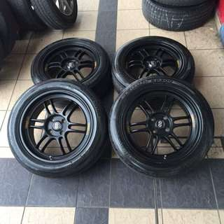 Enkei rpf1 16 inch sports rim city tayar 70% hot hot git loooo