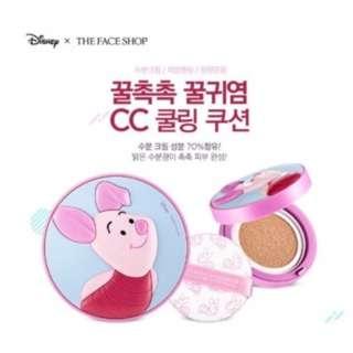🚚 【現貨】韓國THE FACE SHOP菲思小舖x迪士尼聯名限量款氣墊粉餅-小豬、米奇、唐老鴨