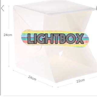 LIGHTBOX with LED lights with black and white background