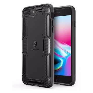 Anker iPhone 7 8 Plus Carbon Fibre Back Plate TPU Case - Black 電話殼 (全新New)