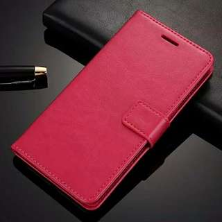 High quality flip-covers for Xiaomi Redmi Note 4X / Note 4 (Rose red & Black)