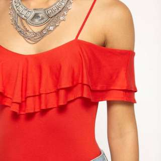 Miss Selfridge V neck Frill Top