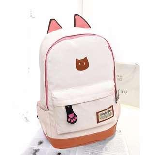 Cute Stylish Backpack White - BPTOM-WE