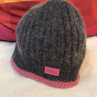 Coach 雙色毛帽
