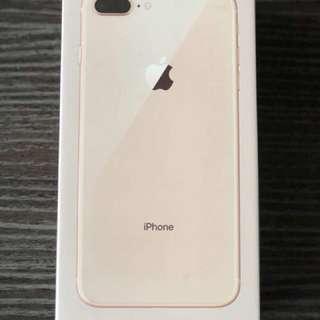 I phone 8 plus 256 gb gold with warranty