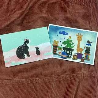 驚喜 卡通 明信片 Postcard