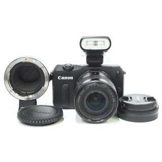 Canon EOS M Kit EF-M 18-55mm f3.5-5.6 IS STM + Canon 90EX Speedlite + Canon Mount Adapter EF to EOSM
