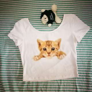 H&M kitten crop top