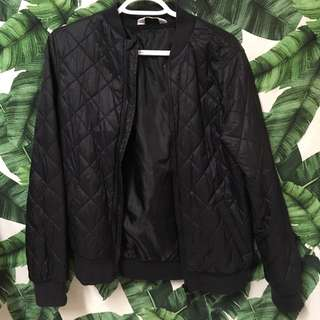Black Quilted Bubble Jacket