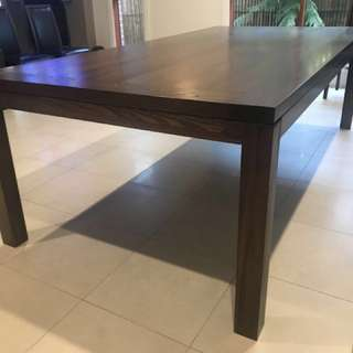 Adriatic Furniture Koco Dining Table 240x120 Solid Elm 19mm thickness.