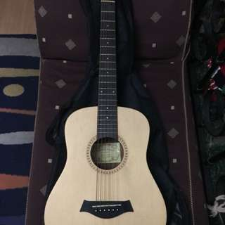 Blue rock acoustic guitar by fernando 3/4