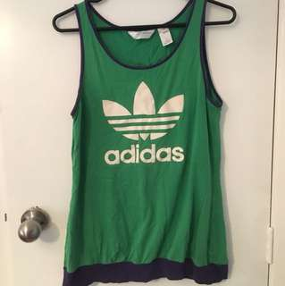 Green and purple adidas singlet. Size 14
