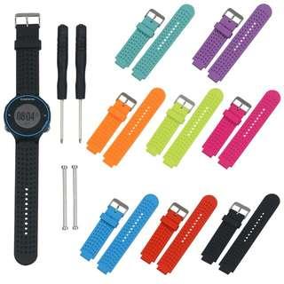 100%全新 GARMIN  FORERUNNER FENIX  series watch straps 系列代用膠錶帶 送工具螺絲支