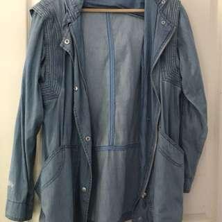 Stussy chambray hooded jacket anorak 6