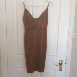 Faux-Suede Bodycon dress