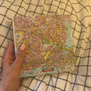 Hamburg (Germany) Map Blank Notebook