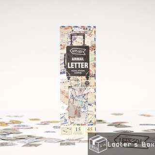 45 Pcs Airmail Letter Vintage Label Loose Sticker Pack (AAC307)