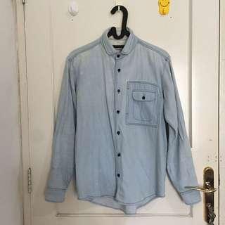 Kemeja Jeans Blue