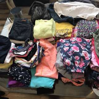 Mix clothes size 12, lot of girls clothes shorts, skirts, dress gap jackets