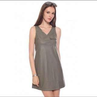 Love Bonito Zocha Faux Leather Dress