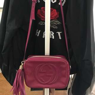 Gucci Magenta Soho Patent Leather Disco Crossbody Handbag
