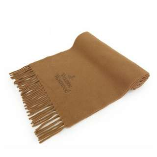 全新 Vivienne Westwood 駱駝色100%羊毛頸巾