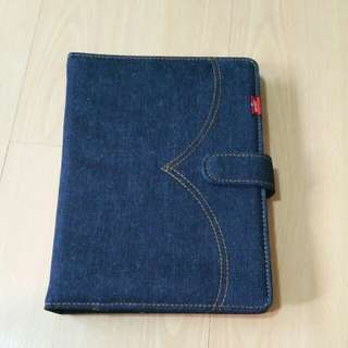BNIP Levi's Notebook with Denim Cover Holder