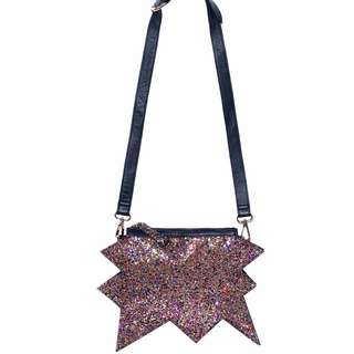HOUSE OF HOLLAND HOH JAGGED EDGE SPIKE GLITTER FESTIVAL BAG W LEATHER STRAP ASOS TOPSHOP ZARA