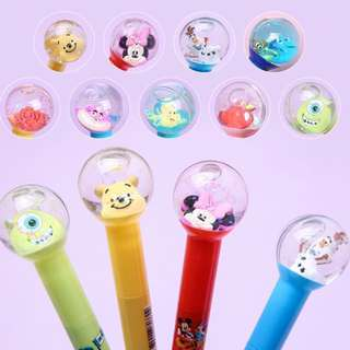 Cute Korea Disney Snow Globe Water Ball Glitter Character Pens