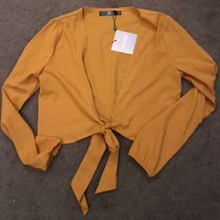 Missguided tie front crop top brand new