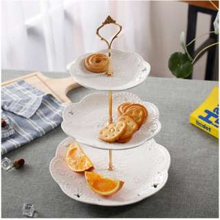 [Rental] 3 Tier Ceramic Dessert Cake Stand