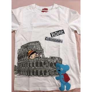 🚚 1/2全新正品白色上衣-跟著1/2小熊去羅馬旅遊
