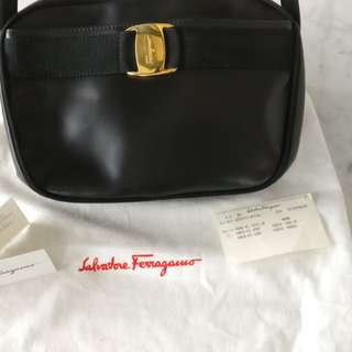 Salvatore Ferragamo black crossbody