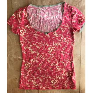 AUTHENTIC D&G DOLCE & GABBANA HOT PINK PAJAMA TOP