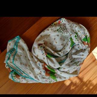 Franche Lippee 經典樹樹 scarf 圍巾 頸巾