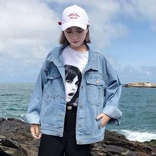 秋冬女裝2017新款韓版bf風寬松百搭淺藍色牛仔衣學生休閒短款外套