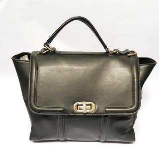 Everbest Faux Leather Messenger Bag