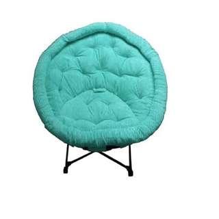 Moon Style Folding Chair light blue