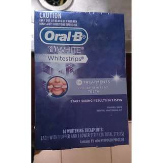 Oral b 3d white strips 14 pack