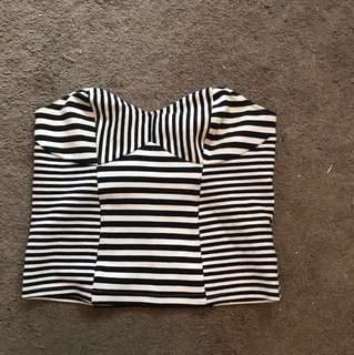 Striped strapless too