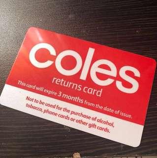 Coles card
