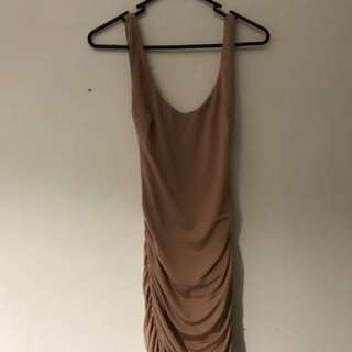 Tigermist skin tight dress beige size 8