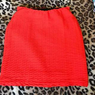 Size 8 Red skirt